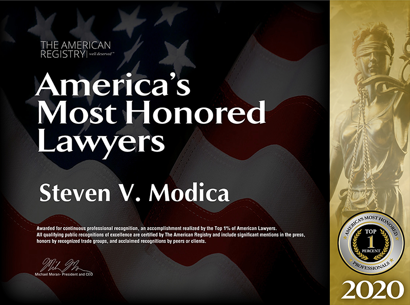 America's Most Honoroed Lawyer Award