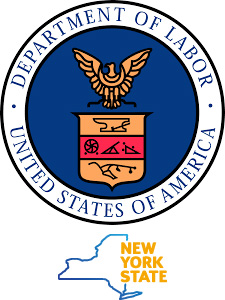 US Department of Labor and NYS logos